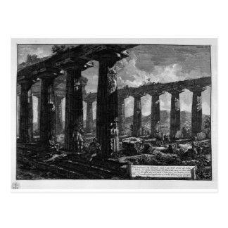 Cartão Postal Dentro do templo por Giovanni Battista Piranesi