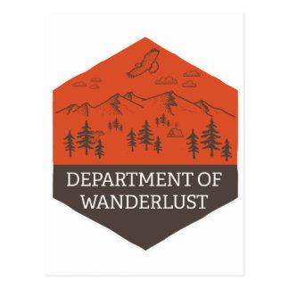 Cartão Postal Departamento do Wanderlust
