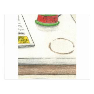 Cartão Postal Desaparecidos verdes mágicos do copo