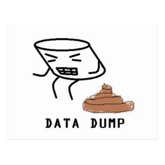 Cartão Postal Descarga dos dados