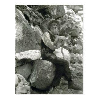 Cartão Postal Descrição John Muir, conservador americano.