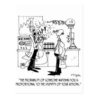Cartão Postal Desenhos animados 4735 da ciência