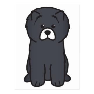 Cartão Postal Desenhos animados do cão da comida de comida