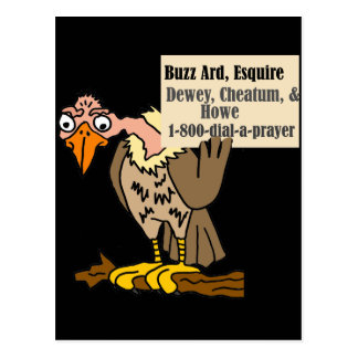 Cartão Postal Desenhos animados engraçados da piada do advogado