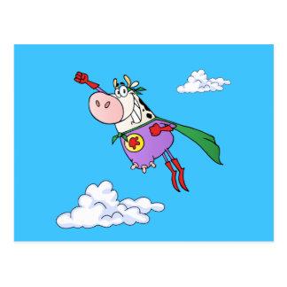 Cartão Postal Desenhos animados super da vaca