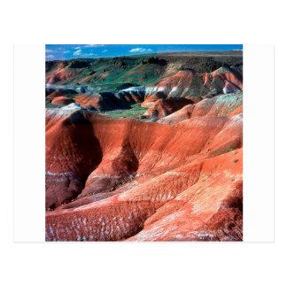 Cartão Postal Deserto pintado garganta