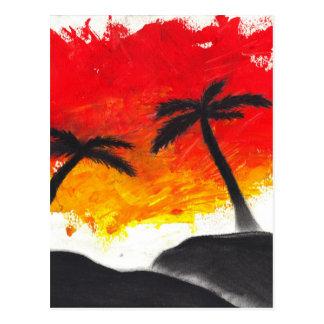 Cartão Postal Design abstrato da paisagem da pintura original