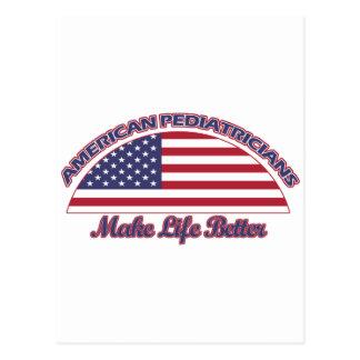 Cartão Postal Design americano dos pediatras
