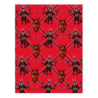 Cartão Postal Design da caixa de Krampus
