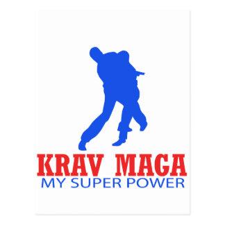 Cartão Postal Design de Krav Maga