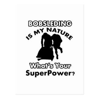 Cartão Postal design do bobsled