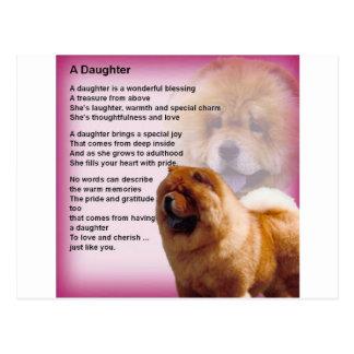 Cartão Postal Design do cão da comida de comida - poema da filha