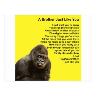 Cartão Postal Design do gorila - poema do irmão