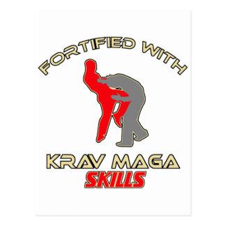 Cartão Postal Design do maga de Krav