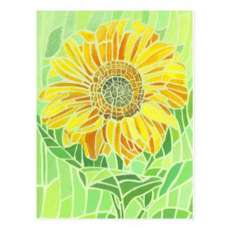 Cartão Postal Design do mosaico do girassol