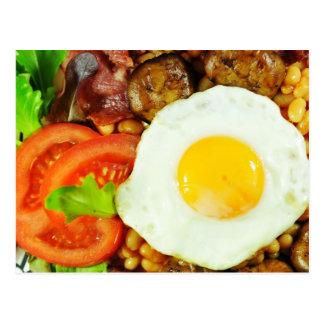 Cartão Postal Design do pequeno almoço inglês