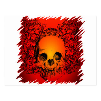 Cartão Postal Design do tatuagem do crânio