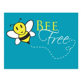 Cartão Postal Design inspirado livre da abelha