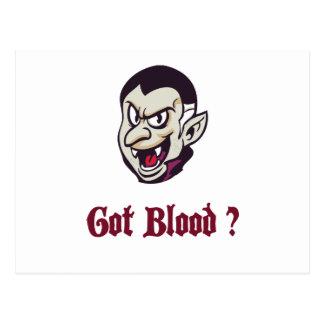 Cartão Postal Design obtido vampiro do sangue