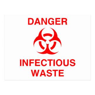 Cartão Postal Desperdício infeccioso do perigo