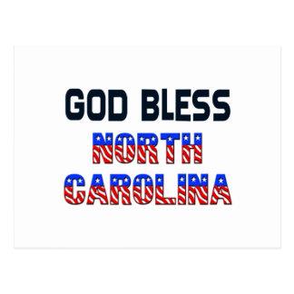 Cartão Postal Deus abençoe North Carolina