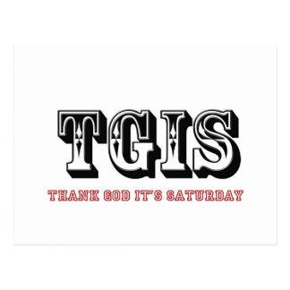 Cartão Postal Deus do obrigado de TGIF é sábado
