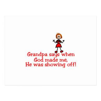 Cartão Postal Deus que mostra fora