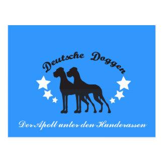 Cartão Postal Deutsche Doggen