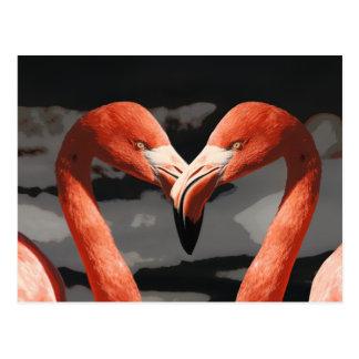 Cartão Postal Dia dos namorados cor-de-rosa da forma do coração