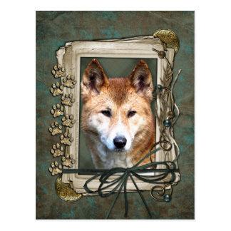 Cartão Postal Dia dos pais - patas de pedra - Dingo