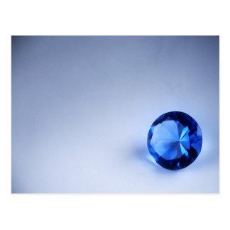 Cartão Postal Diamante azul