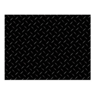 Cartão Postal Diamondplate preto