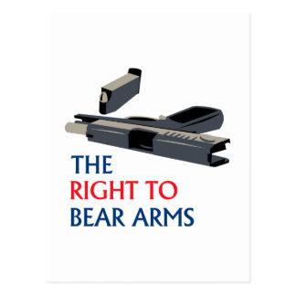 Cartão Postal Direito para carregar os braços