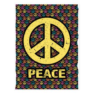 Cartão Postal Divertimento da harmonia da guerra da paz da
