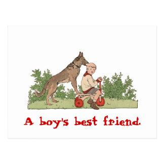 """Cartão Postal Do """"cartão do melhor amigo menino"""""""