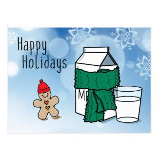 """Cartão Postal Do """"cartão engraçado leite & do gengibre"""" boas"""