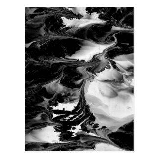 Cartão Postal ~ do ENCANTAMENTO (arte abstracta preta & branca)