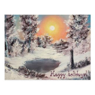 """Cartão Postal Do """"manhã inverno"""", boas festas"""