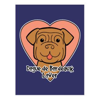 Cartão Postal Dogue de Bordéus Amante