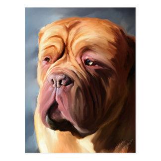 Cartão Postal Dogue de Bordéus Arte - Dogue tormentoso