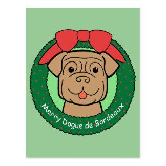 Cartão Postal Dogue de Bordéus Natal