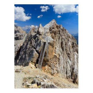 Cartão Postal Dolomites - cume de Costabella