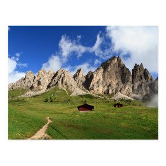 Cartão Postal Dolomites - grupo do Cir