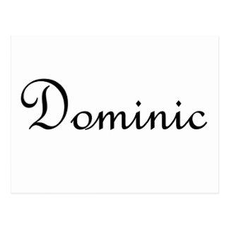 Cartão Postal Dominic