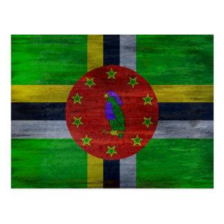 Cartão Postal Dominica afligiu a bandeira