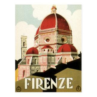 Cartão Postal Domo da igreja de Florença Firenze Italia das