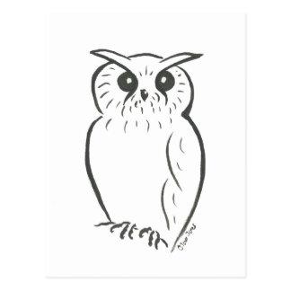Cartão Postal Doodle da coruja
