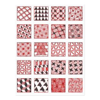 Cartão Postal doodle patterns