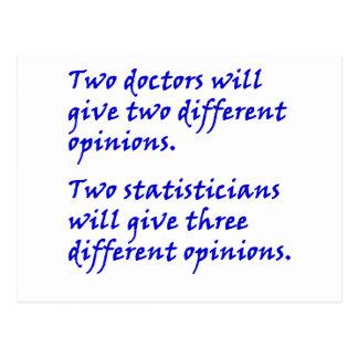 Cartão Postal Doutor e estatístico