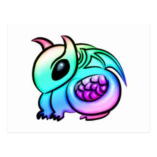 Cartão Postal Dragão do arco-íris de Kawaii Chibi